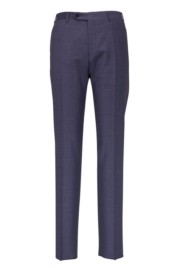 Canali Charcoal Gray Wool Stretch Dress Pant
