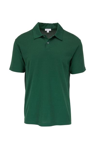 Sunspel - Kale Jersey Short Sleeve Polo