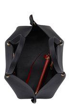 Valentino Garavani - Go Logo Escape Black Leather Medium Tote