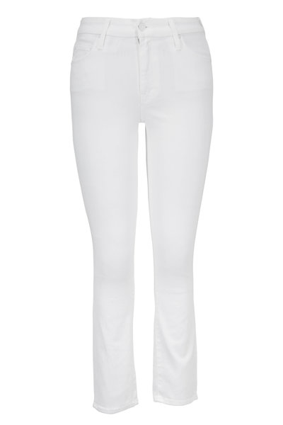 Mother Denim - The Looker White Crop Jean