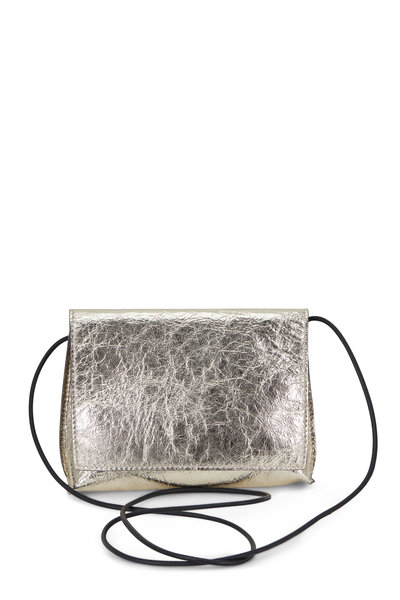 B May Bags - Champagne Foil Leather Small Crossbody