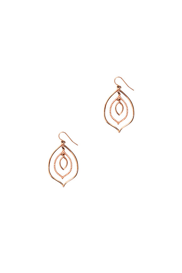 Genevieve Lau 14K Rose Gold Sao Paolo Layered Earrings