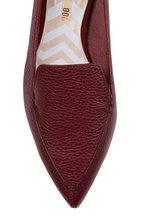 Nicholas Kirkwood - Beya Burgundy Leather Pointed Flat