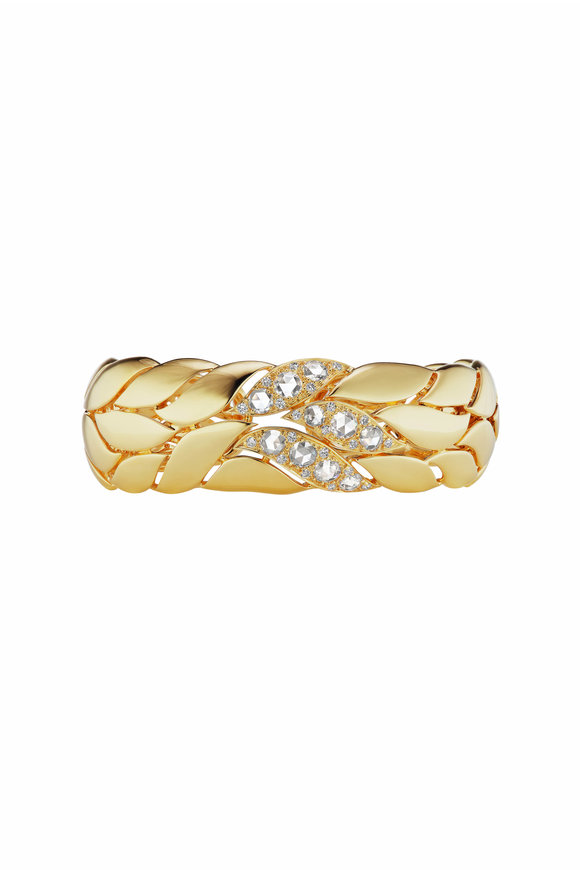 Maria Canale Yellow Gold Petal Diamond Bracelet