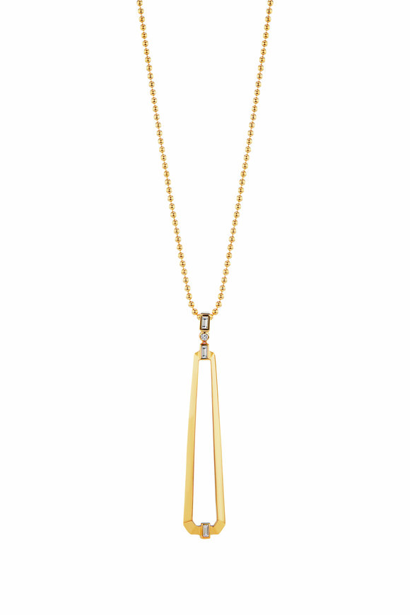 Maria Canale Yellow Gold Trapezoid Pendant Necklace