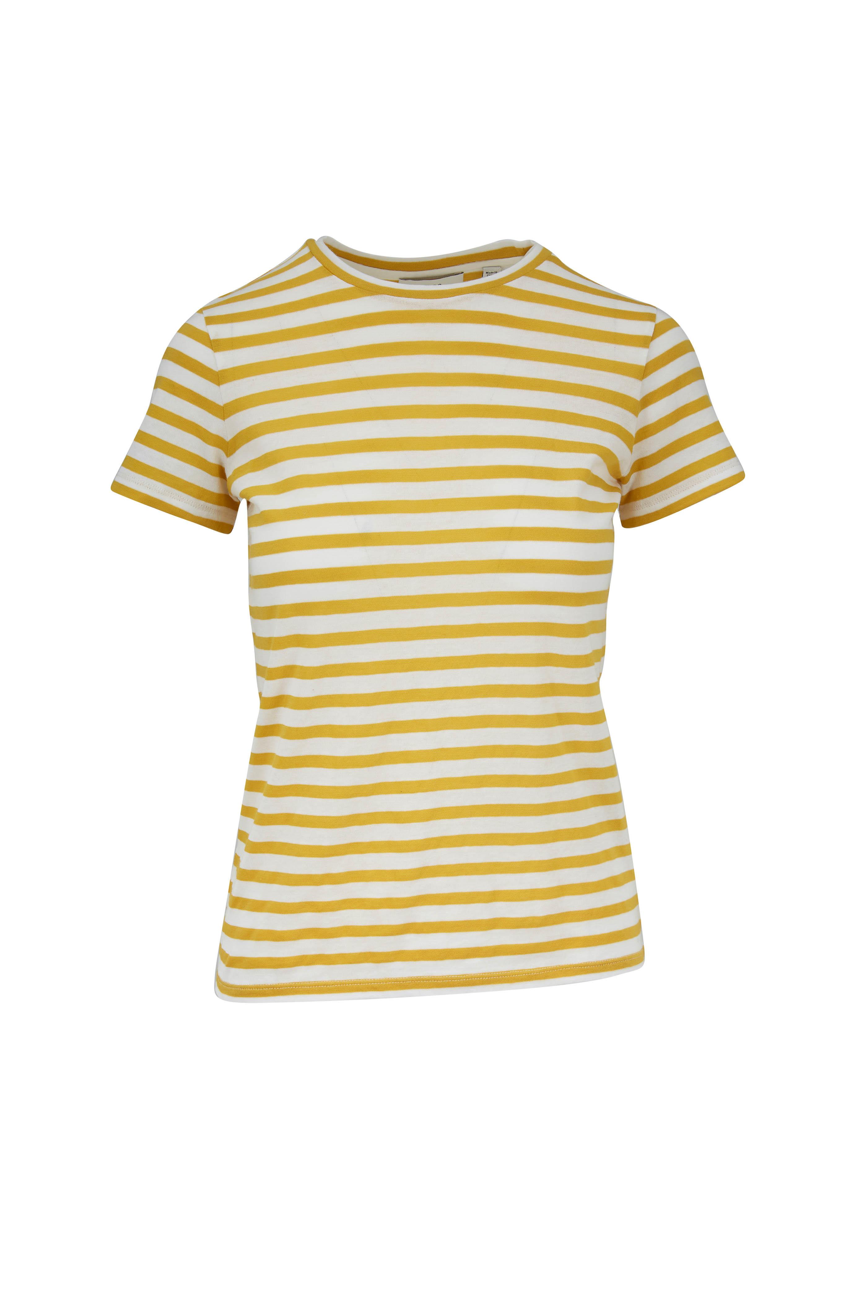 9f4b31bd5c Vince - Limonata Bengal Striped Cotton T-Shirt   Mitchell Stores