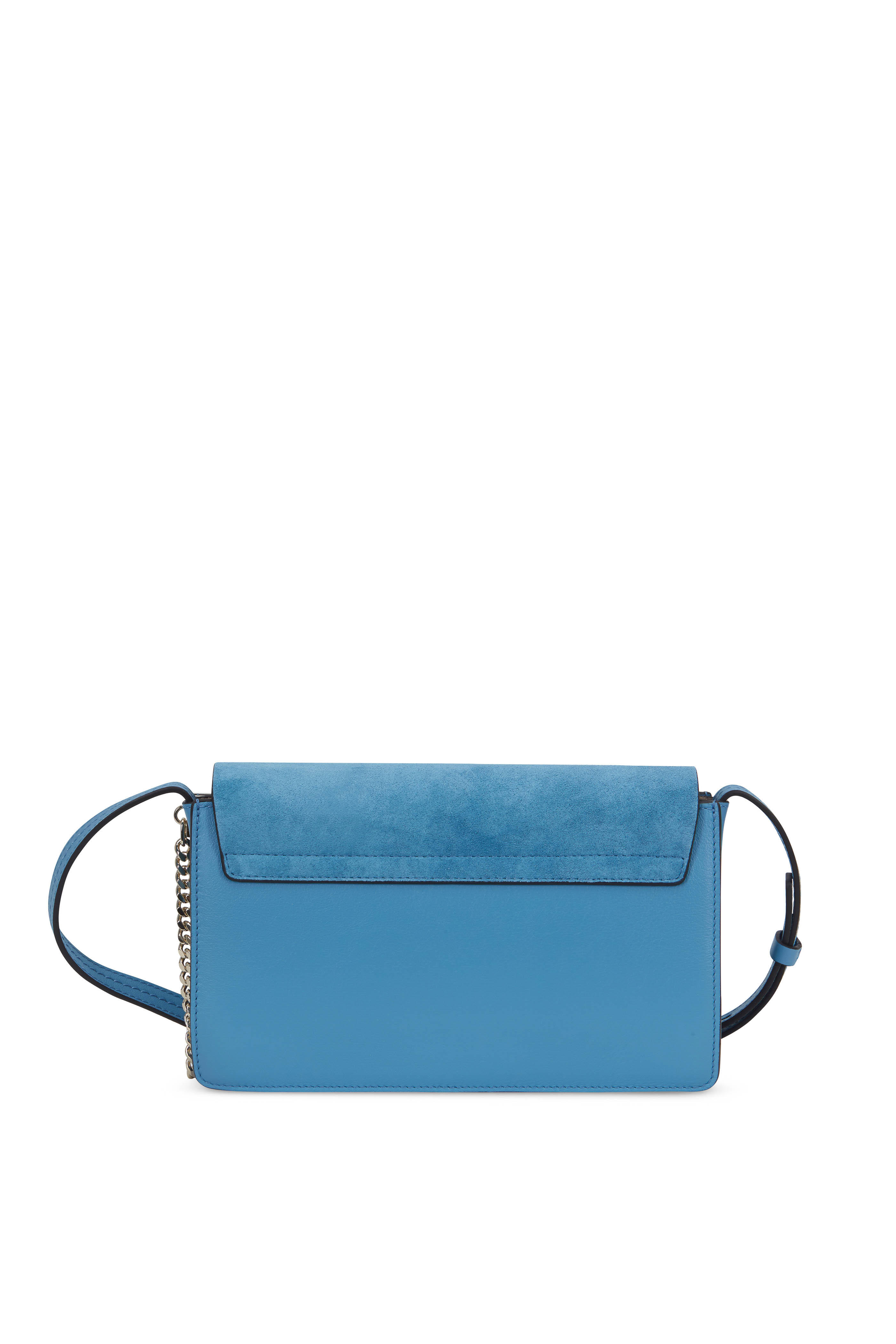 995e6cf0 Faye Tomboy Blue Leather & Suede Crossbody