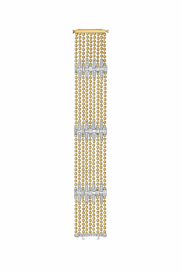 Maria Canale 18K Yellow Gold Flapper Diamond Bracelet