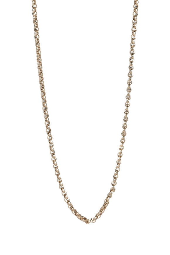 Hoorsenbuhs 18K Yellow Gold Micro Link Chain Necklace