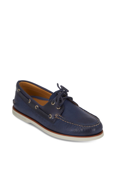 Sperry - Gold Cup Authentic Navy Rivingston Boat Shoe