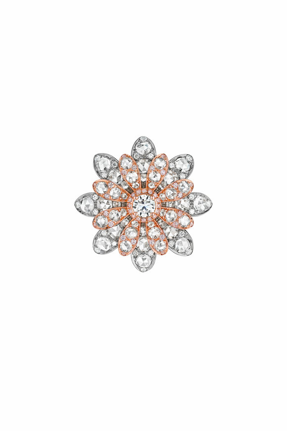 Maria Canale Two Tone Gold & Silver Aster Flower Ring