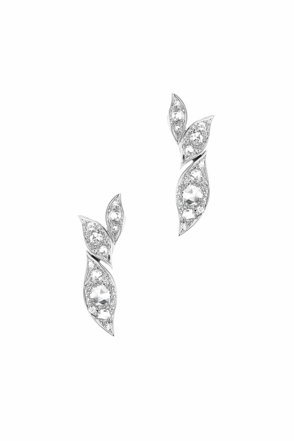 Maria Canale 18K White Gold Petal Cluster Earrings