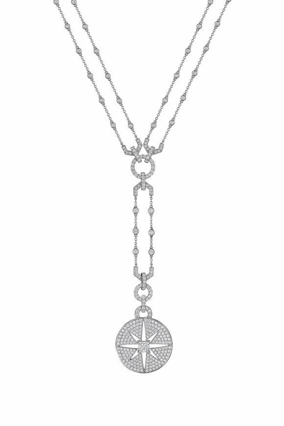 Maria Canale White Gold Pastiche Diamond Pendant Necklace