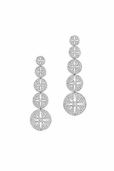 Maria Canale - White Gold Pastiche Diamond Dangle Earrings