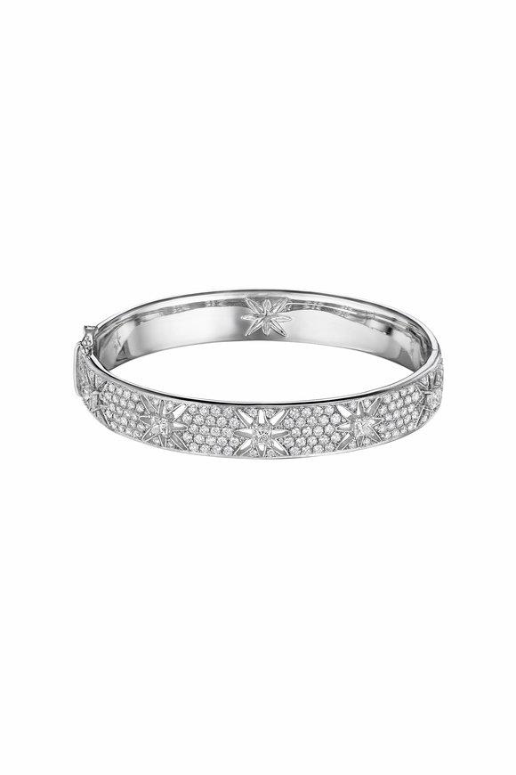 Maria Canale White Gold Pastiche Diamond Bangle