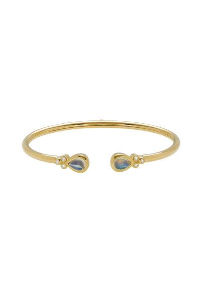 Temple St. Clair - 18K Yellow Gold Blue Moonstone Bellina Bracelet