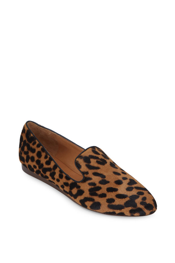 Veronica Beard Leopard Print Calf Hair Loafer