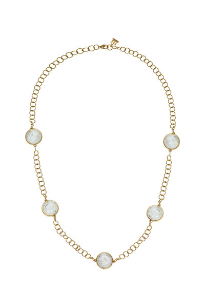 Temple St. Clair - Yellow Gold Moon Crystal Diamond Necklace
