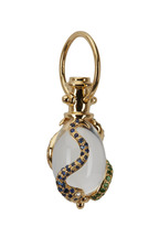 Temple St. Clair - 18K Gold Crystal & Sapphire Serpent Amulet