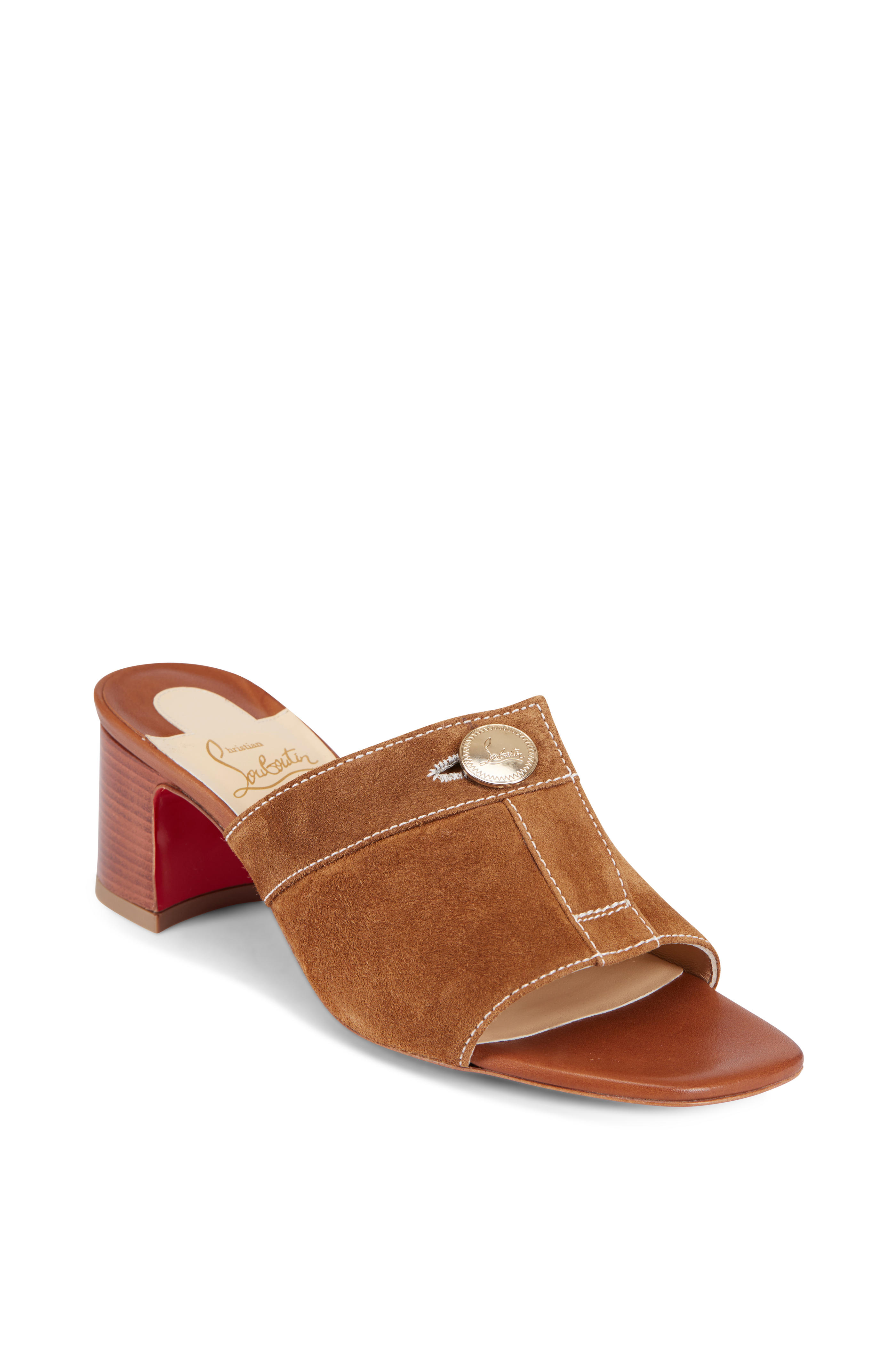 detailed look e9323 c6f22 Christian Louboutin - Dechirago Tan Suede Mule, 55mm ...