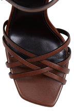 Saint Laurent - Jodie Tan Leather Ankle Strap Sandal, 100mm