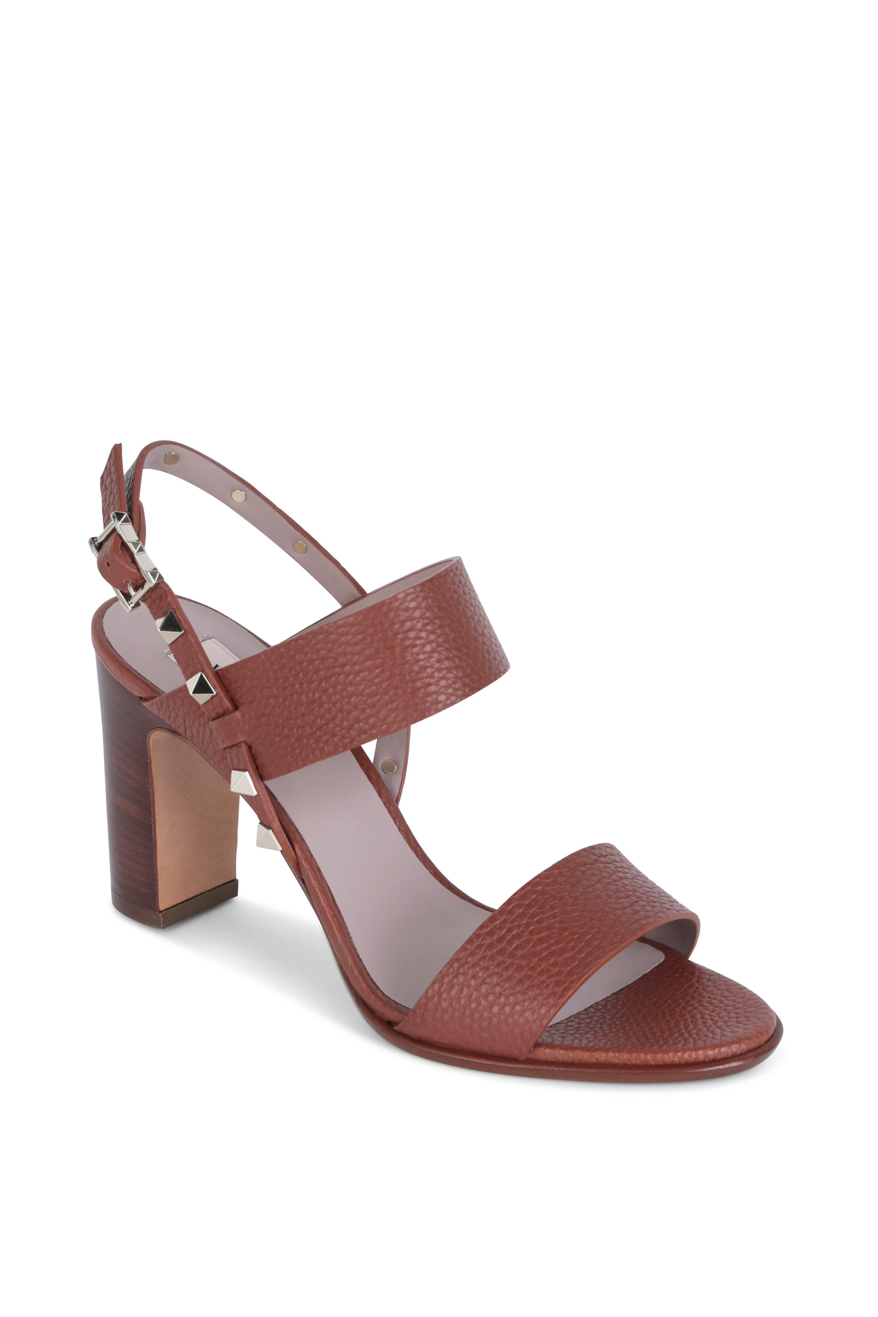 e032d0f44d05 Valentino Garavani - Rockstud Tan Leather Sandal