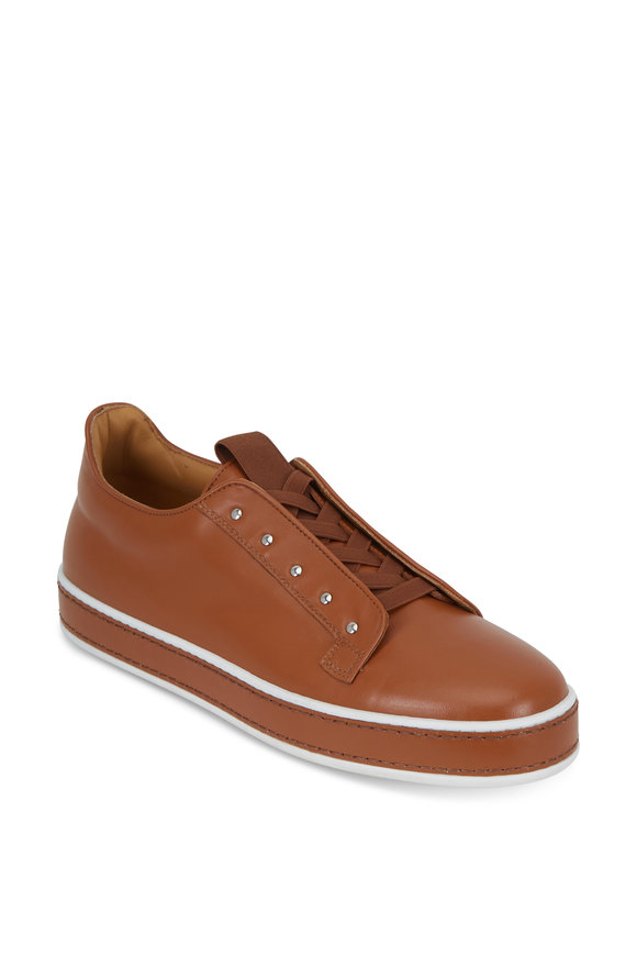 Grey New York Grey New England Litchfield Caramel Leather Slip-On Sneaker