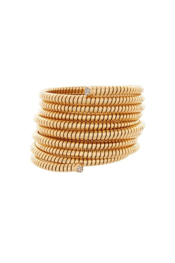 Marina B 18K Yellow Gold Trisolina Ten Row Diamond Bracelet