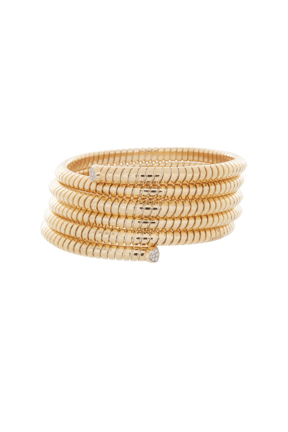 Marina B 18K Yellow Gold Trisolina Five Row Diamond Bangle