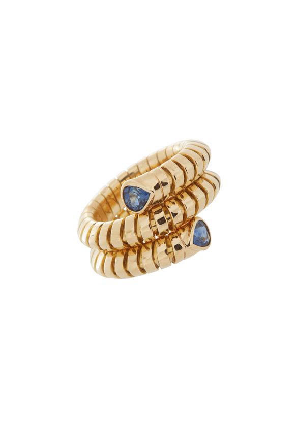 Marina B 18K Yellow Gold Trisola Sapphire Ring