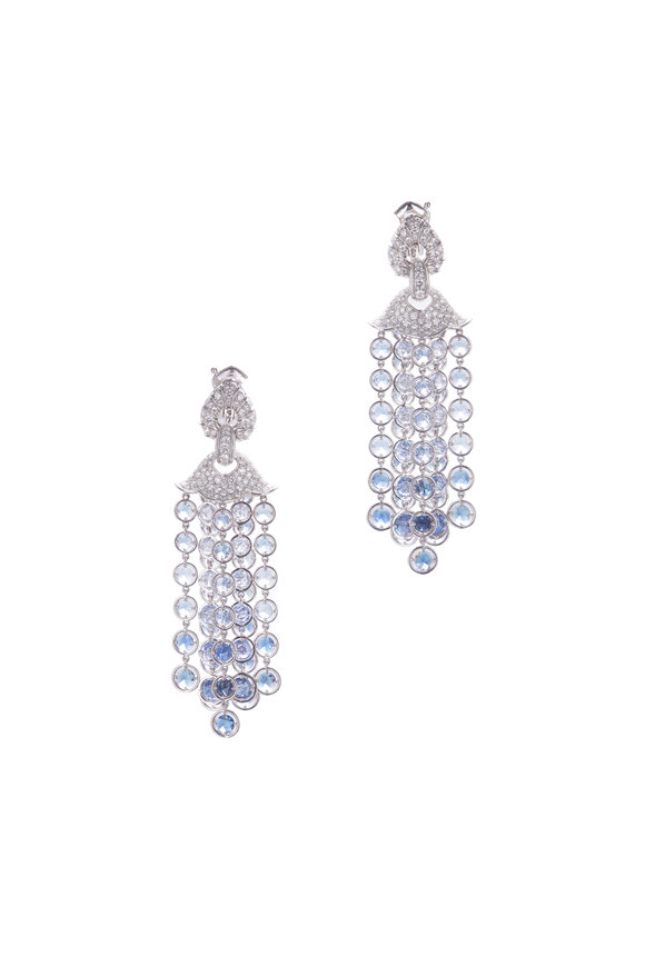 Marina B 18K White Gold Pampilles Sapphire Earrings
