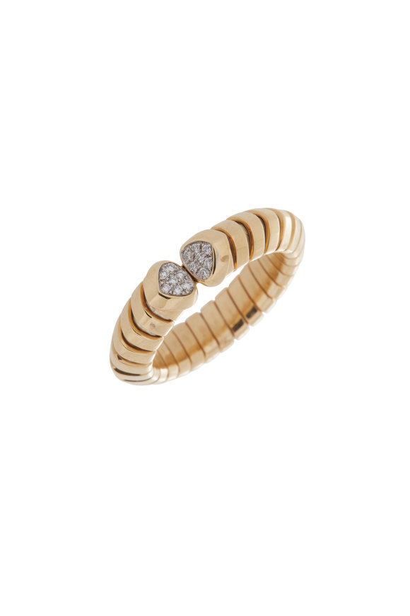 Marina B 18K Yellow Gold Trisolina Pavé Ring