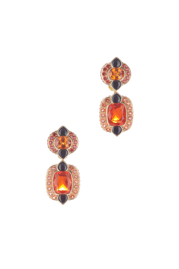 Marina B 18K Yellow Gold Novia Onyx, Opal & Garnet Earrings