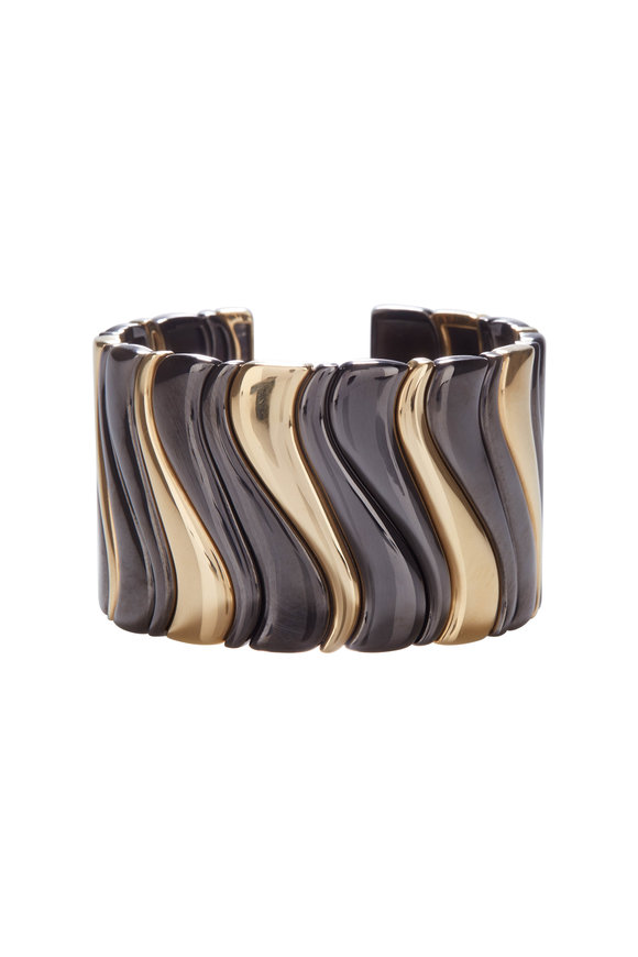 Marina B 18K Yellow Gold Blackened Steel Cuff