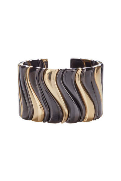 Marina B - 18K Yellow Gold Blackened Steel Cuff