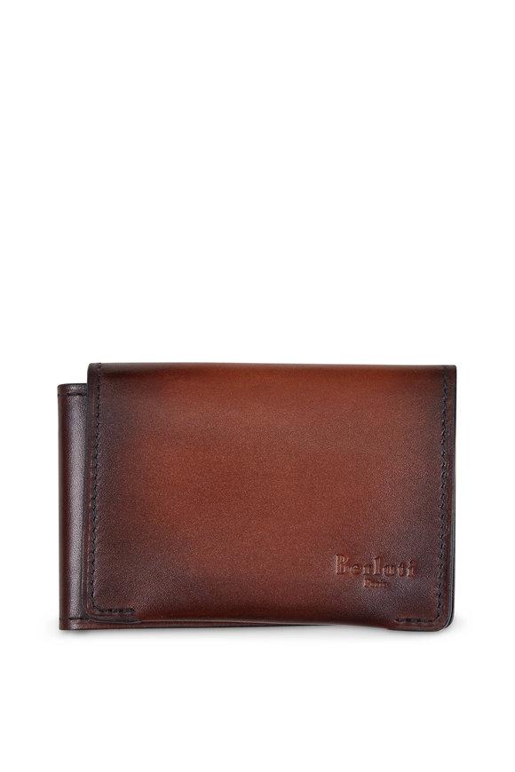 Berluti Epure Dark Brown Leather Square Wallet
