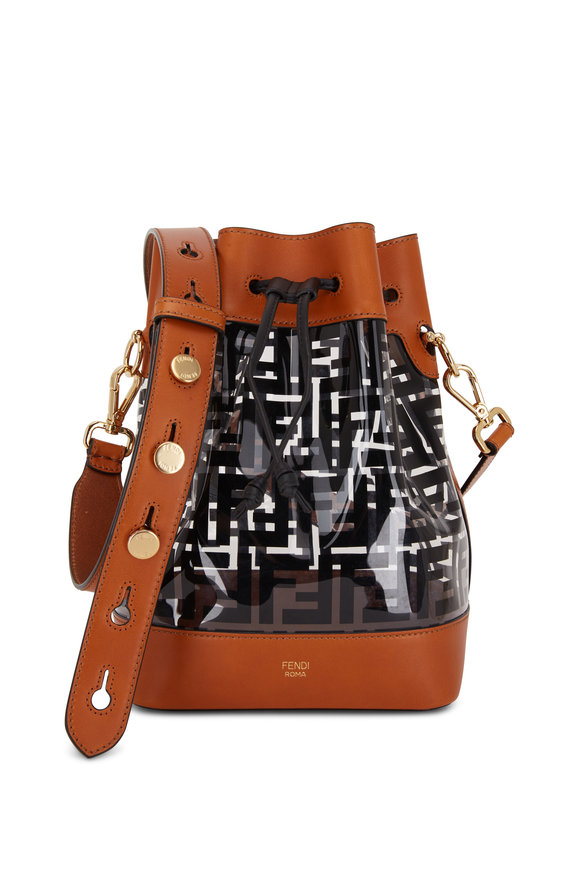 Fendi Mon Tresor Black PVC Grande Bucket Bag