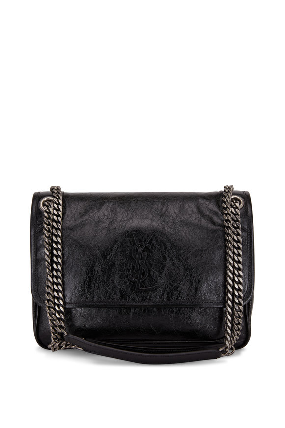 Saint Laurent Niki Monogram Black Glossy Leather Medium bag