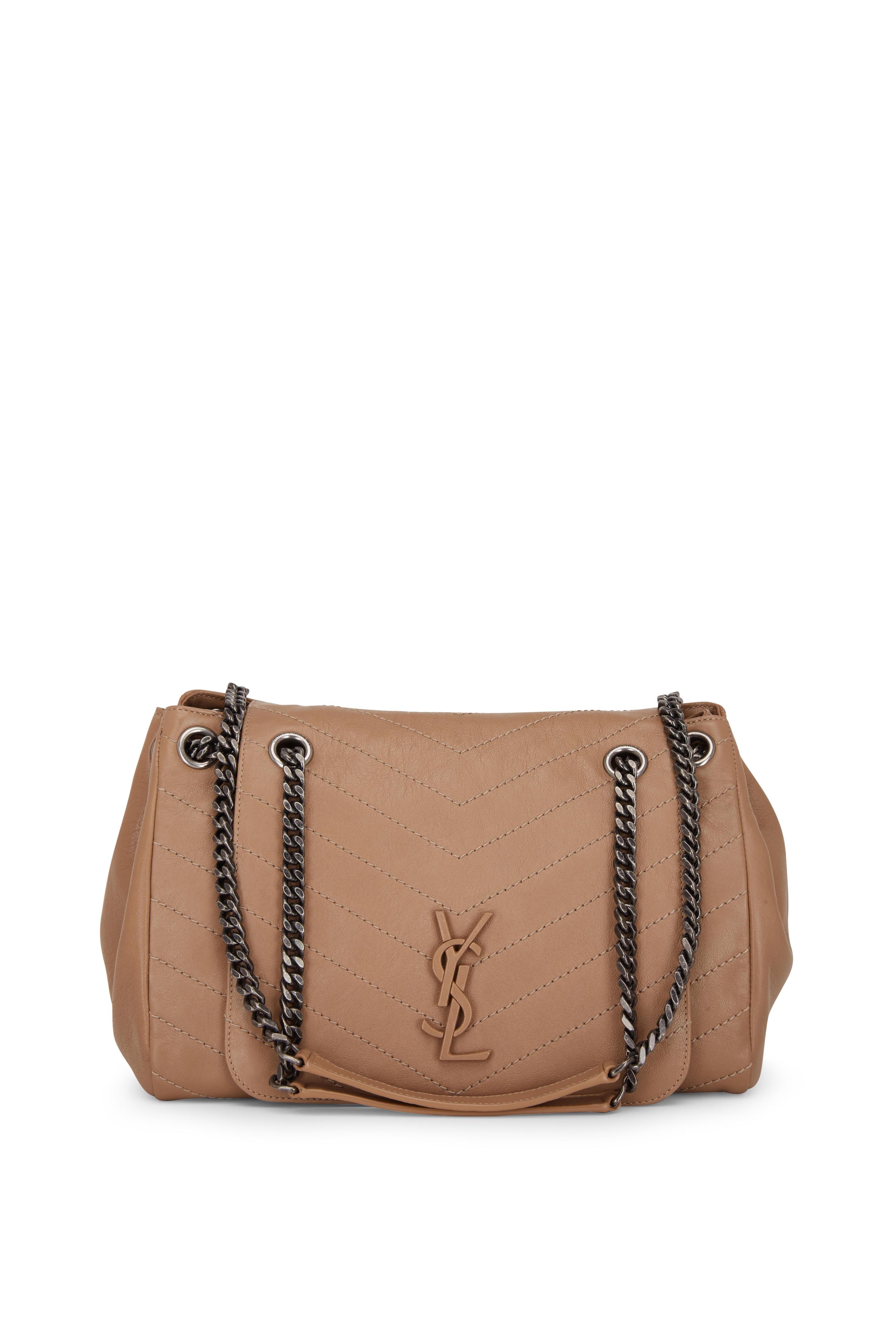 a62d6b6822 Saint Laurent - Nolita Monogram Taupe Vintage Leather Large Bag ...