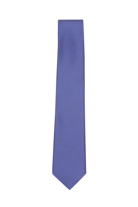 Paolo Albizzati Purple Micro Dot Necktie