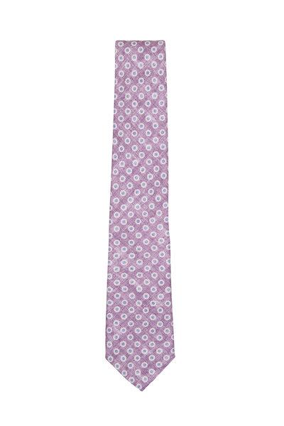 Paolo Albizzati - Purple Printed Flower Necktie