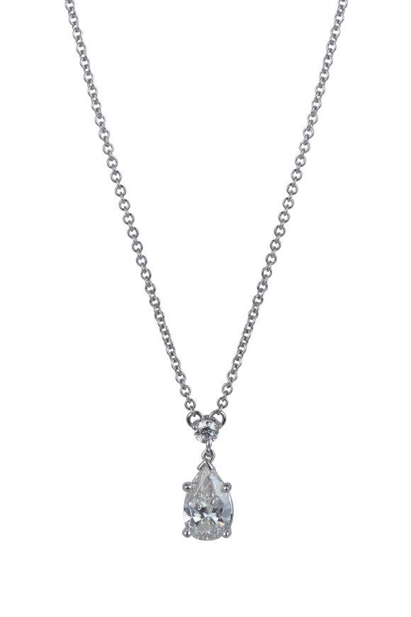 Aaron Henry 18K White Gold Pearshape Diamond Pendant