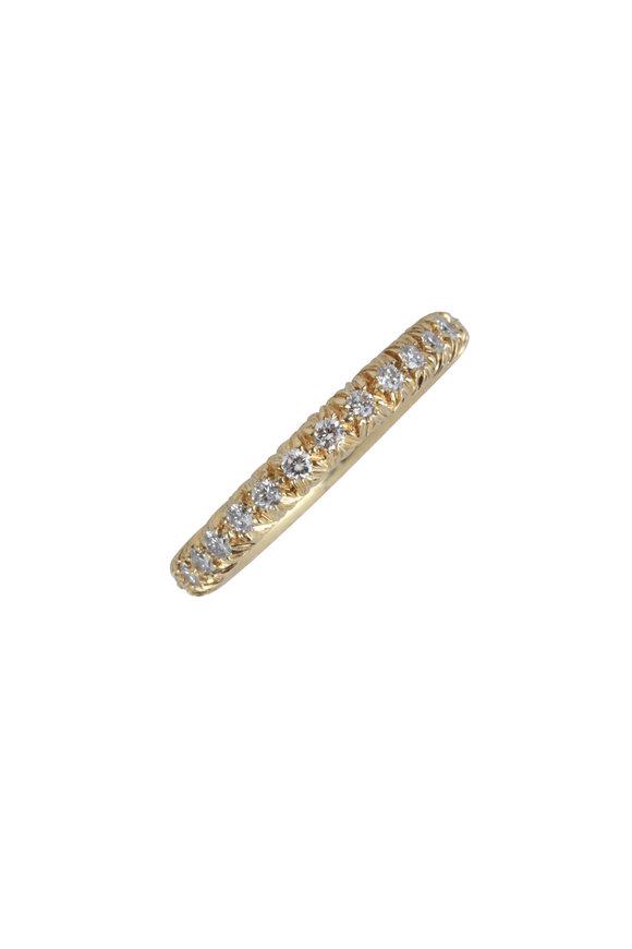 Aaron Henry Gold Diamond Eternity Ring