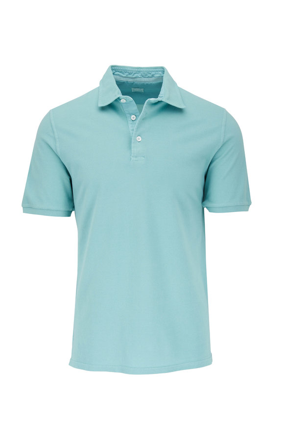 Fedeli Green Frosted Jersey Polo