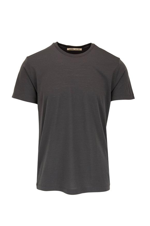 Maurizio Baldassari Olive Green Tech Merino Wool T- Shirt