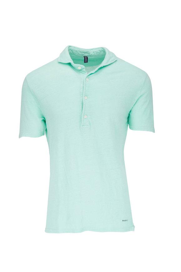 04651/ Light Green Linen Polo