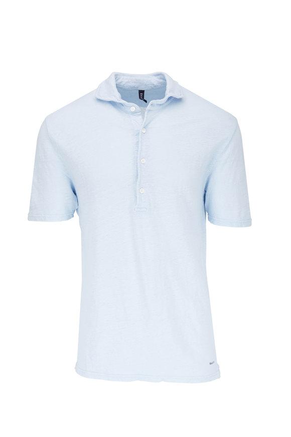 04651/ Sky Blue Linen Polo