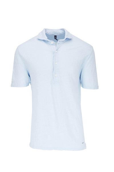04651/ - Sky Blue Linen Polo