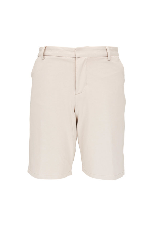 Swet Tailor Tan Cotton Knit Everyday Shorts