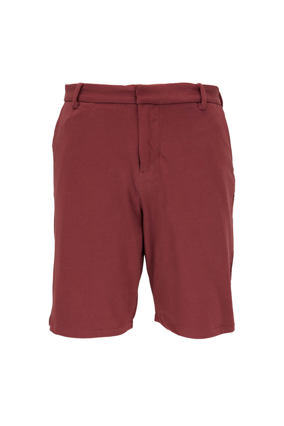 Swet Tailor Burgundy Cotton Knit Everyday Shorts